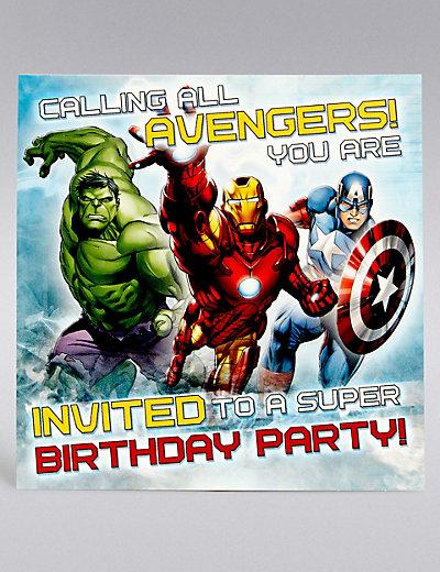 Marvel Avengers Party Invites – Marvel Party Invitations