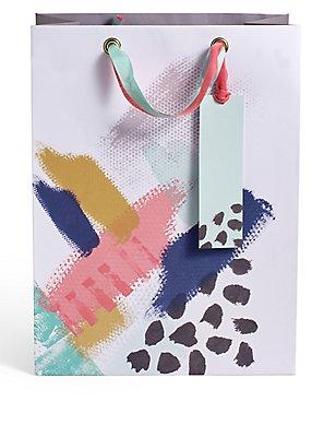 Artistic Brush Stroke Large Gift Bag, , catlanding