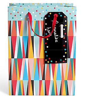 Grand sac cadeau à motif coloré, , catlanding