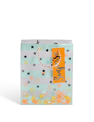 Stipped Glycine Small Gift Bag, , catlanding