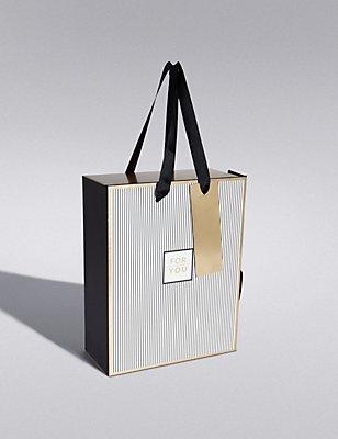 Boîte cadeau noire et dorée de taille moyenne, AUCUNE COULEUR, catlanding