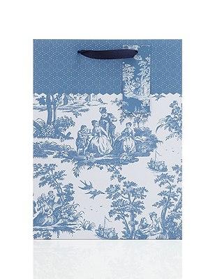 Trendy Toile Large Gift Bag, , catlanding