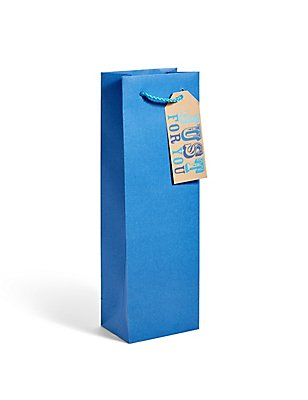 Blue Kraft Bottle Bag , , catlanding