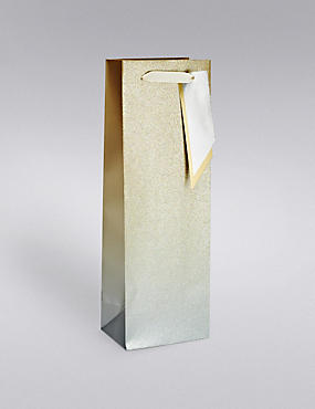 Gold & Silver Ombre Glitter Bottle Bag, , catlanding