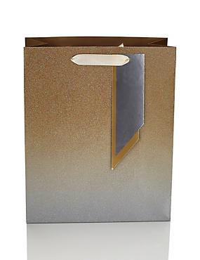 Gold Glitter Gift Bag, , catlanding