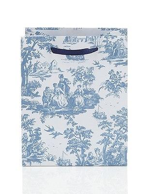 Trendy Toile Small Gift Bag, , catlanding