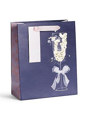 Prosecco Glass Medium Gift Bag, , catlanding
