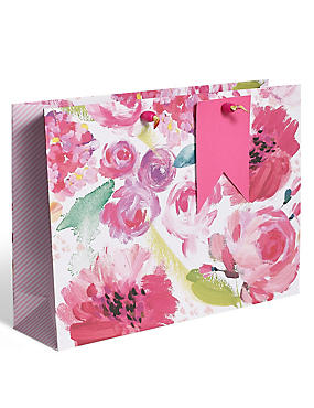 Gift boxes gift wrapping paper ribbons gift tags ms painted floral large gift bag negle Gallery