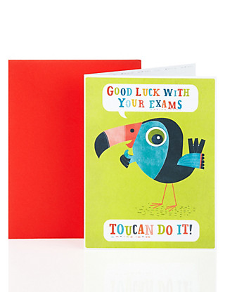 Toucan Exam Good Luck Greetings Card Home