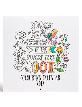 Colouring Calendar, , catlanding