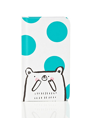 Contemporary Bear and Polka Dot Notebook Home