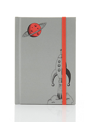 Classic Illustrated Boutique Rocket A6 Notebook Home