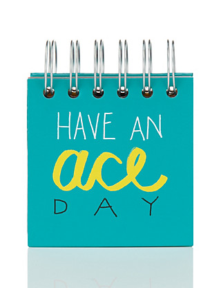Contemporary Text Have An Ace Day Sticky Notes Book Home