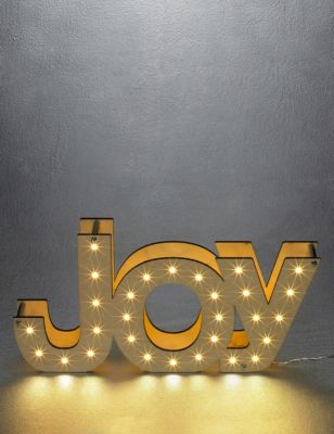 Joy light up letters ms for Lighted letters joy