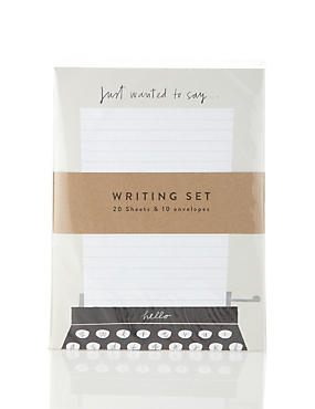 Just A Few Words Writing Set