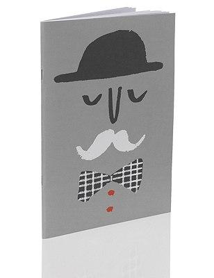 Tutti Fruity Moustache Man B5 Exercise Book, , catlanding