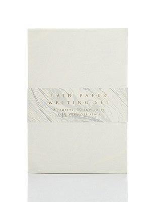 Laid Paper Writing Set, , catlanding