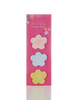 Fresh Floral Sticky Notes, , catlanding