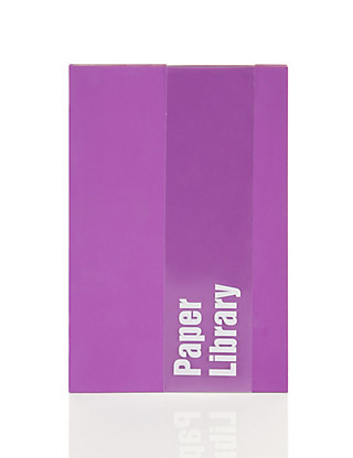 A6 Purple Soft Touch Notebook Home