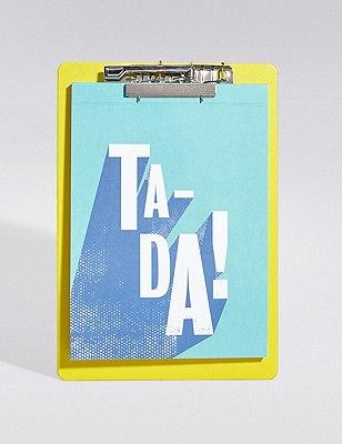Geometric Ta-Da Notebook & Clipboard, , catlanding