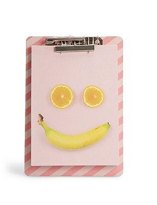 Fruit Face Notebook with Clipboard, , catlanding