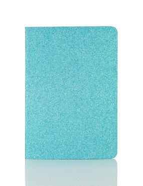 A5 Blue Glitter Notebook
