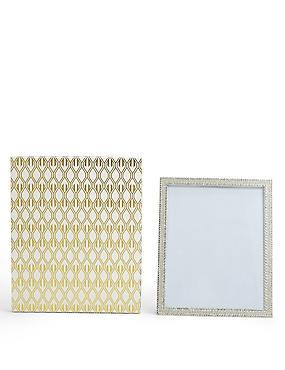 Boxed Natalie Diamante Frame 20 x 25cm (8 x 10inch), , catlanding