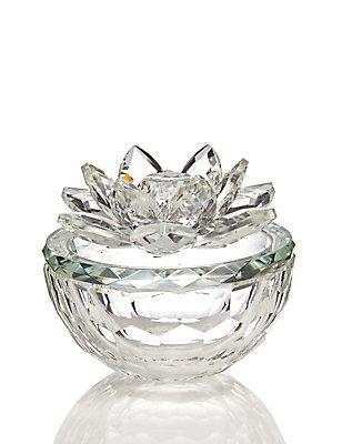 Cut Glass Trinket Box, , catlanding
