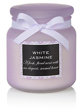 White Jasmine Large Filled Candle, , catlanding