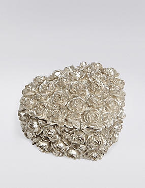 Heart Rose Trinket Box, PEWTER, catlanding