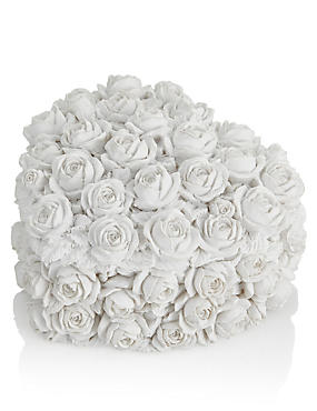 Heart Rose Trinket Box, WHITE, catlanding
