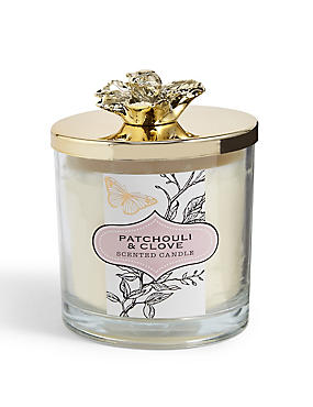 Patchouli And Clove Lidded Filled Candle, , catlanding