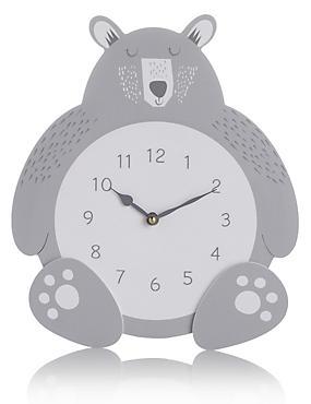 Bear Hanging Clock, , catlanding