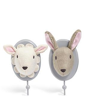 Patère à motif lapin/mouton, , catlanding