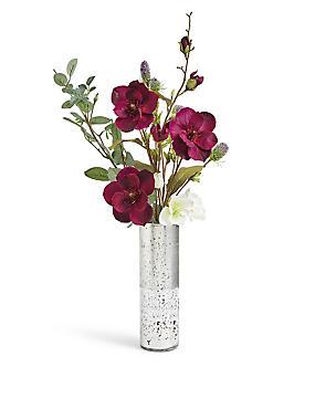 Magnolia And Thistle In Mercury Vase, , catlanding