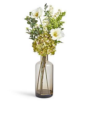 Vaas met hortensia en klaproos, , catlanding