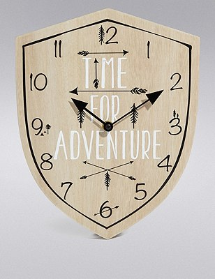 Time for Adventure Clock, , catlanding