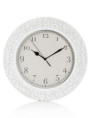 Round Rose Wall Clock, , catlanding
