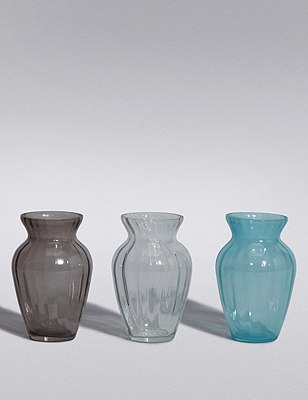 3 Coloured Posey Vases, , catlanding
