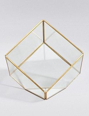 Glass & Metal Terrarium, , catlanding