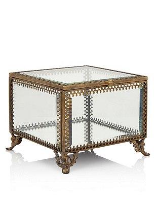 Large Glass Trinket Box, , catlanding