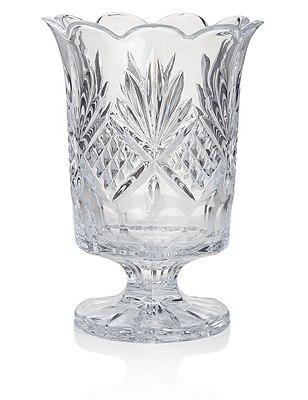 Pressed Glass Hurricane Candleholder, CLEAR, catlanding