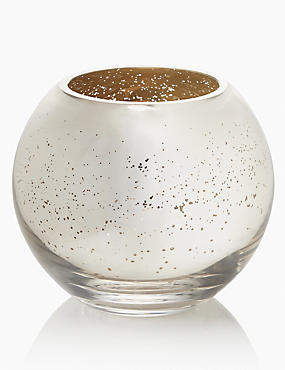 Mercury Finish Fish Bowl Vase