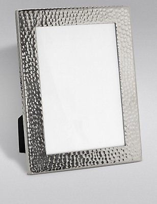 Hammered Metal Photo Frame 13 x 18cm (5 x 7inch), , catlanding