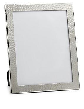 Cadre photo en métal aspect martelé 20x25cm, , catlanding