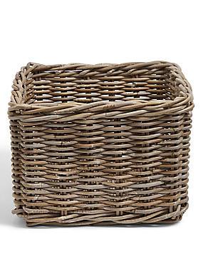 Kubu Rattan Hallway Basket, , catlanding