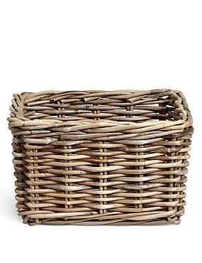 Kubu Rattan Small Storage Basket, , catlanding