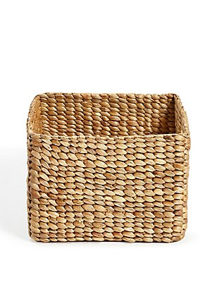Water Hyacinth Small Storage Basket, , catlanding