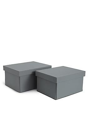 Set bestehend aus zwei Boxen aus Kunstleder, , catlanding