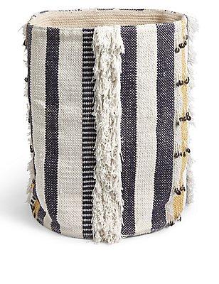 Sequin Braided Storage Basket, , catlanding